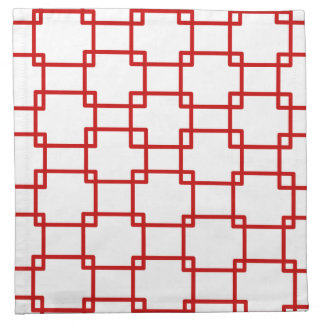 Linked squares in Red Napkin