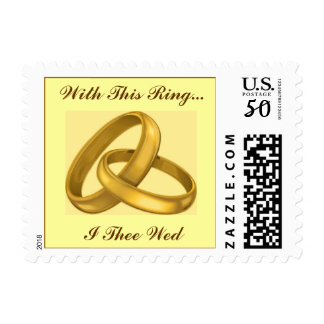 Linked Wedding Rings Postage