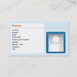 Linkedin business cards templates zazzle linkedin business business card reheart Images