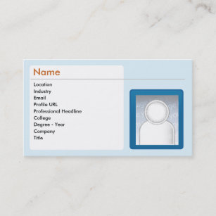 Linkedin business cards zazzle linkedin business business card reheart Image collections