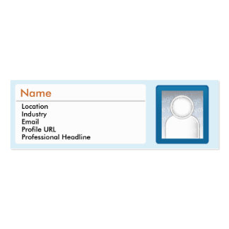 LinkedIn - Skinny Double-Sided Mini Business Cards (Pack Of 20)