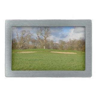 Links Golf Course Rectangular Belt Buckle