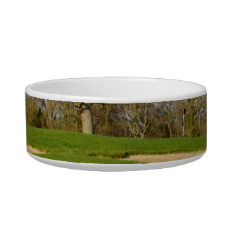 Links Golf Course Cat Food Bowls