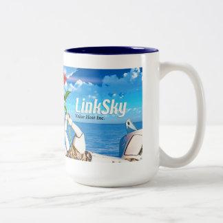 LinkSky Rose, two-tone mug