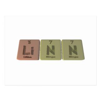 Linn como nitrógeno del nitrógeno del litio tarjeta postal