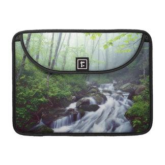 Linn Cove Creek cascading through foggy Sleeves For MacBook Pro