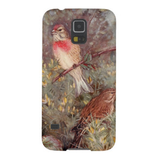 Linnent Birds Vintage Illustration Galaxy S5 Covers