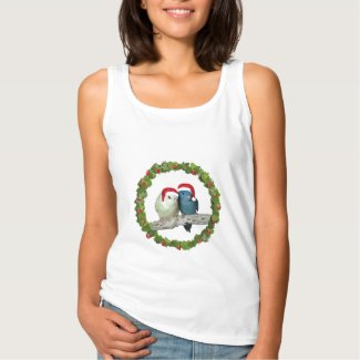 Linnie Christmas wreath Basic Tank Top