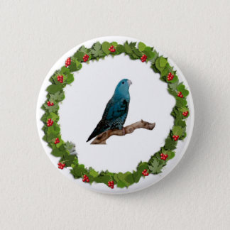 Linnie Christmas Wreath Button