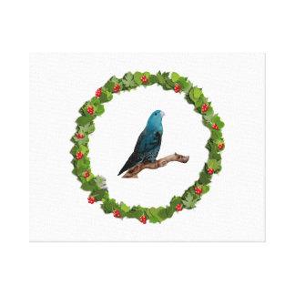 Linnie Christmas Wreath Canvas Print