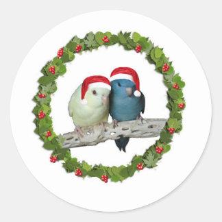 Linnie Christmas wreath Round Sticker
