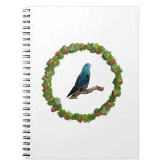 Linnie Christmas Wreath Spiral Notebook