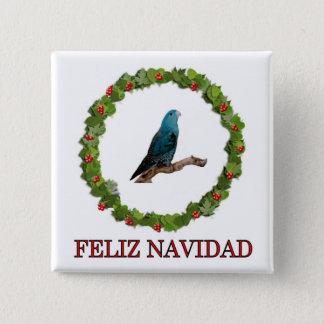 Linnie Feliz Navidad Button