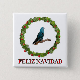 Linnie Feliz Navidad Pinback Button