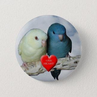 Linnie Valentine Pinback Button