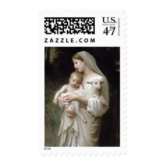 L'Innocence, William-Adolphe Bouguere Christmas Postage Stamp