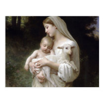 L'Innocence, William-Adolphe Bouguereau Postcard