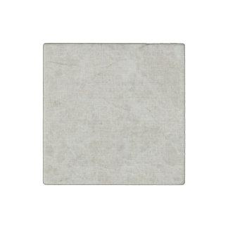 Lino beige rústico impreso imán de piedra