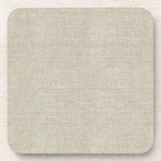 Lino beige rústico impreso posavaso