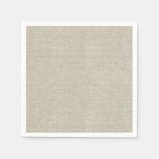 Lino beige rústico impreso servilletas de papel