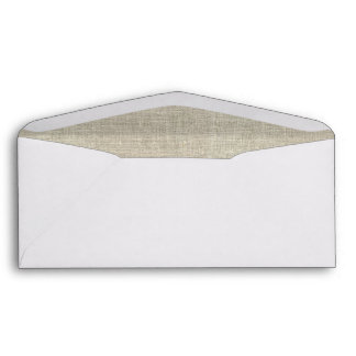 Lino beige rústico impreso sobres