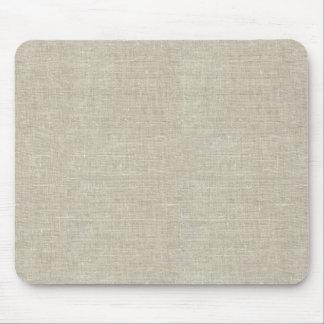 Lino beige rústico impreso tapete de raton