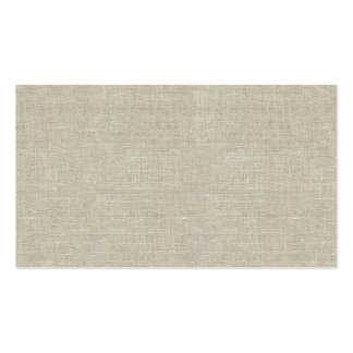 Lino beige rústico impreso tarjeta personal