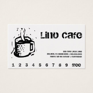 Lino Cafe Punch / Loyalty Card