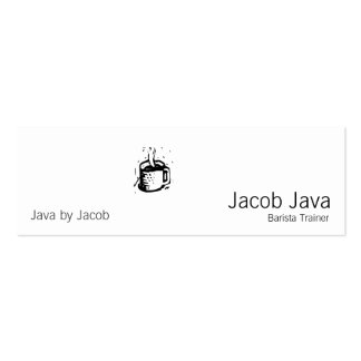 Lino Coffee Cup Double-Sided Mini Business Cards (Pack Of 20)