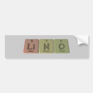 Lino como oxígeno del nitrógeno del litio pegatina de parachoque