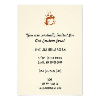 Lino Cup 5x7 Paper Invitation Card