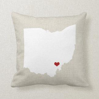 Lino de la almohada del estado de Ohio falso