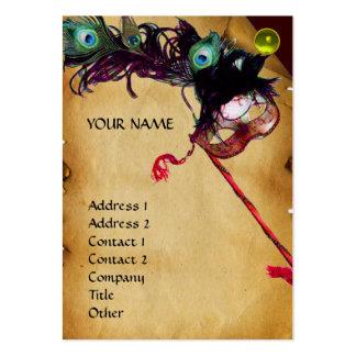 Lino de la gema del damasco del pergamino del tarjetas de visita grandes