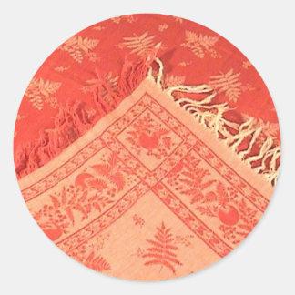 Lino del rojo de Antuque Turquía Pegatina Redonda
