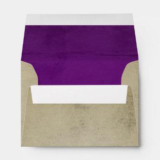 Lino del vintage con el terciopelo púrpura A6