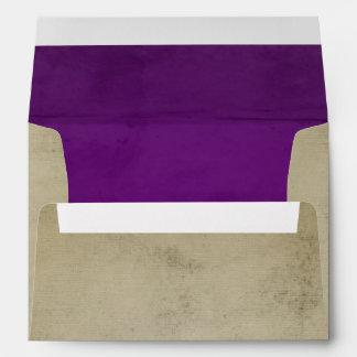 Lino del vintage con el terciopelo púrpura A7