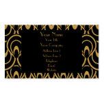Lino elegante del lujo del diseño del art déco del tarjetas de visita