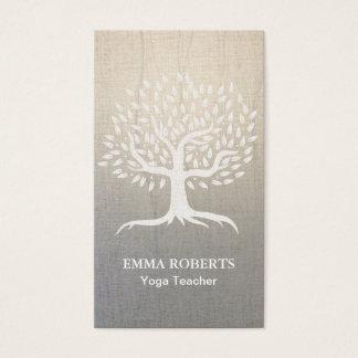Lino elegante del zen del árbol del vintage de la tarjetas de visita
