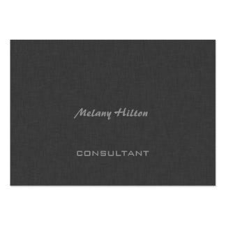Lino gris contemporáneo elegante elegante tarjetas de visita grandes