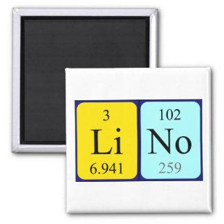 Lino periodic table name magnet
