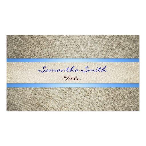 Lino y tarjeta de visita cinta-ecológica azul