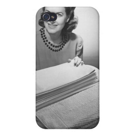 Lino y toallas planchados iPhone 4/4S carcasas