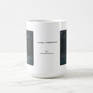 Linocut: Night Scene with Comet by Ken Swanson Classic White Coffee Mug