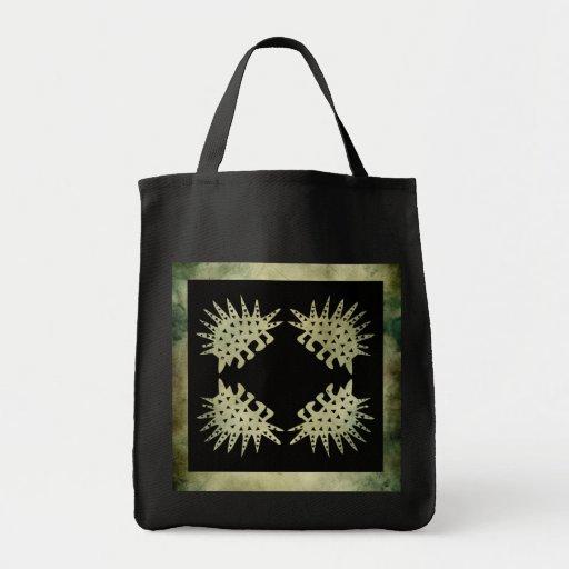 linocut simbólico africano aborigen bolsa lienzo