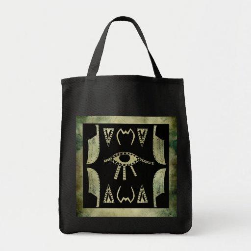 linocut simbólico africano aborigen bolsa de mano
