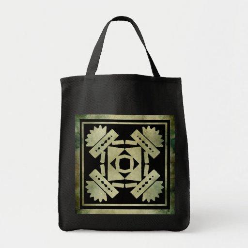 linocut simbólico africano aborigen bolsa