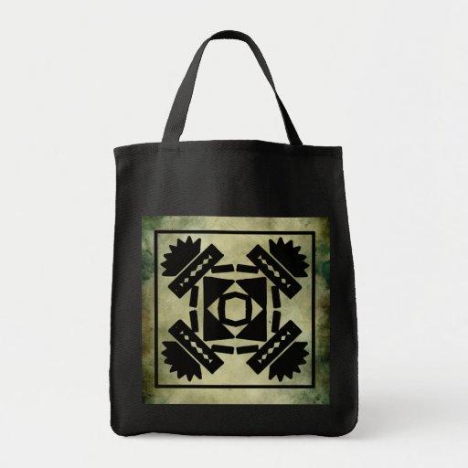 linocut simbólico africano aborigen bolsas lienzo