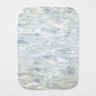 Linóleo retro azul de la cocina de los mediados de paños para bebé