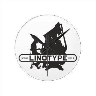 Linotype Wall Clock