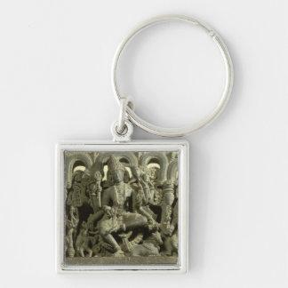 Lintel depicting The Trinity: Siva, Brahma and Vis Keychain